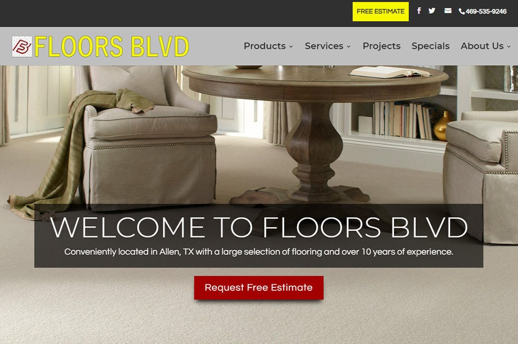 Floors Blvd website Preview