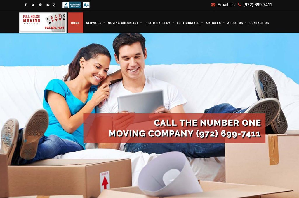 Full House Moving Website Preview